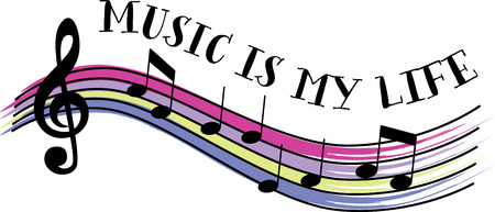 chord: Music lovers will love some colorful notes. Illustration