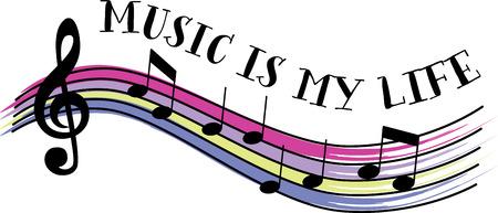 Musikliebhaber werden einige bunte Noten lieben. Standard-Bild - 43896435