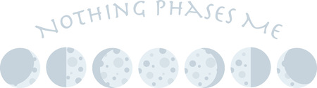 The phases of the moon make a good design for an astrological project.