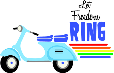 If you know someone who wants to display their gay pride they can do it with a vespa scooter. Illustration