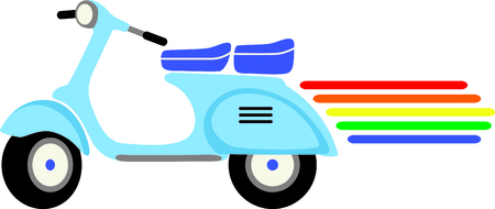 bisexual: If you know someone who wants to display their gay pride they can do it with a  scooter.