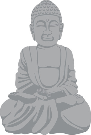 enlighten: A practitioner of Buddhism will love this statue. Illustration