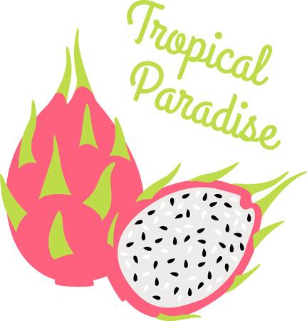 fruit du dragon: Ajoutez un peu de d�licieux fruit du dragon pour une d�coration tropicale.