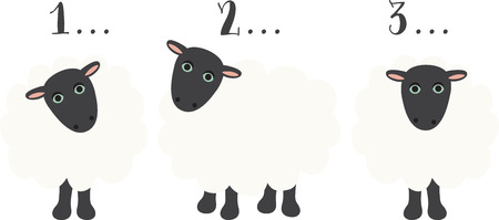 良い睡眠のためにカウントするいくつかのかわいい羊があります。