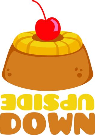 Pineapple upsidedown cake for dessert lovers. Stock fotó - 43896810