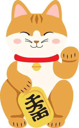 This adorable cat figurine will bring good luck.