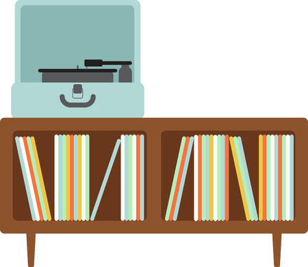 Vinyl records fans will love this turntable and record cabinet.