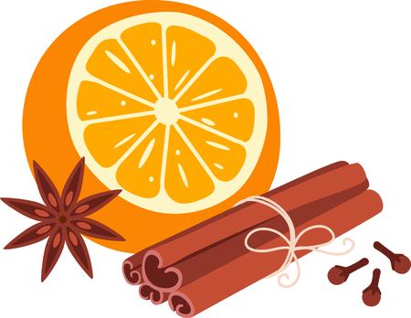 aromatique: Orange et �pices aromatiques pour les amateurs culinaires.