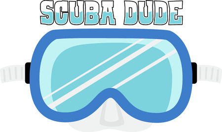 Decorate a swim towel or beach bag with a dive mask.