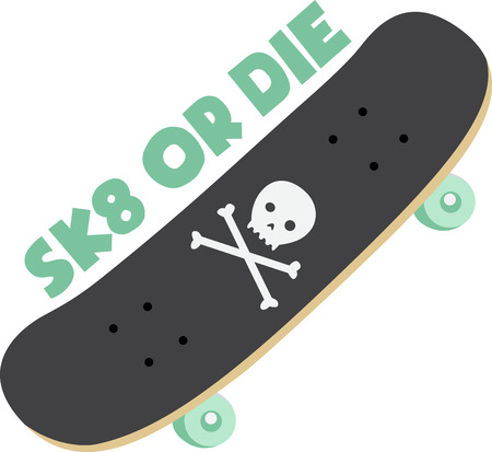 Kids will love a cool skateboard to ride on.