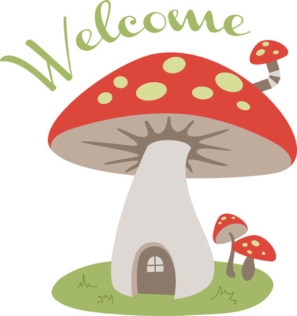 mushroom house: A cute mushroom house is a sweet decoration.