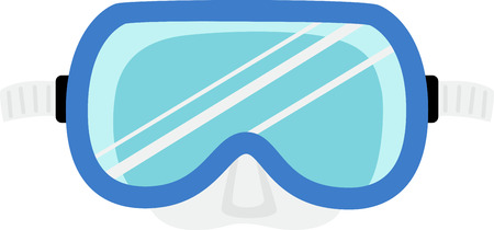 swim mask: Decorate a swim towel or beach bag with a dive mask.