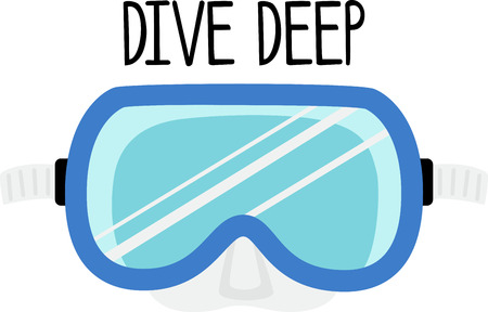 dive: Decorate a swim towel or beach bag with a dive mask.