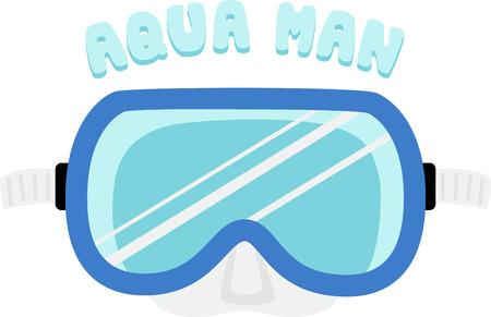 beach bag: Decorate a swim towel or beach bag with a dive mask.