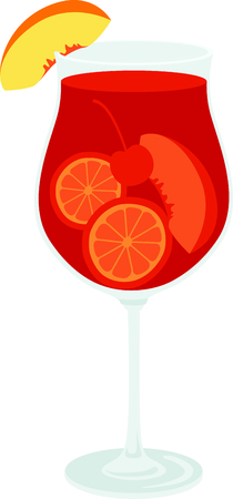home decor: Serve up this Sangria cocktail for your home decor or as a gift. Illustration