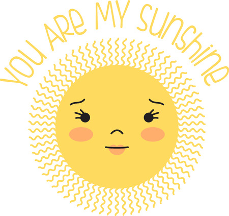brighten: A happy sun will brighten up any project.