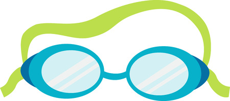 Swim goggles will be a good decoration on a towel or beach bag. Ilustração