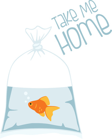 fantail: This cute goldfish will be perfect for an aquarium themed project. Illustration