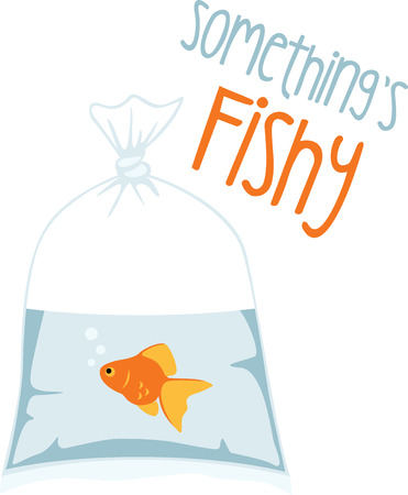 This cute goldfish will be perfect for an aquarium themed project. Illustration