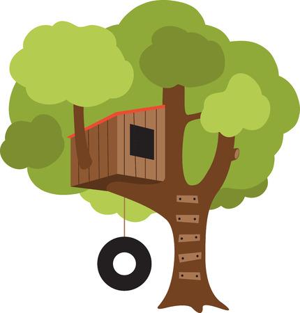 Una casa sull'albero farà una grande decorazione in camera di un bambino. Archivio Fotografico - 43897359
