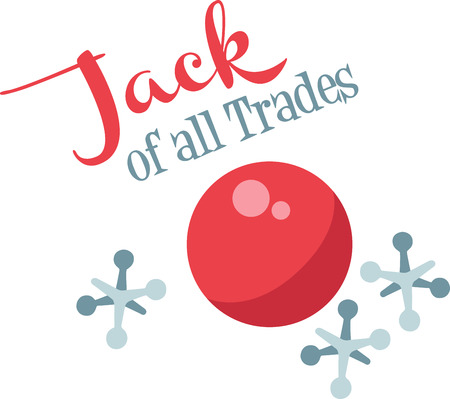 A game of jacks will make a great decoration on a child's shirt. 向量圖像