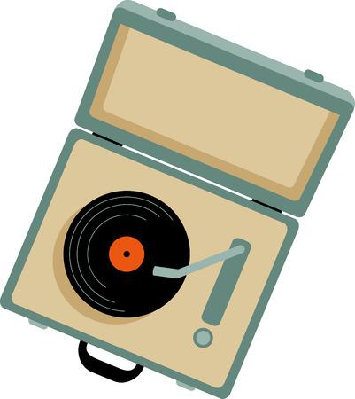 비닐 레코드 팬들은 컬렉션을 위해이 가방 턴테이블을 좋아할 것입니다.