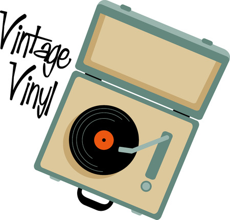 turntable: Vinyl records fans will love this suitcase turntable for their collection