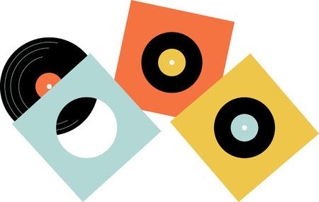 비닐 음악 팬들은 수집을 위해 이러한 레코드를 사랑합니다. 스톡 콘텐츠 - 43897479