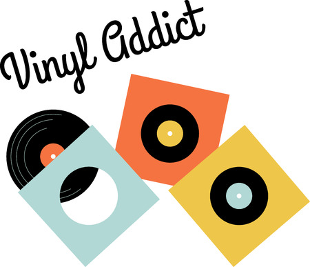 lp: Vinyl music fans will love these records for their collection. Illustration
