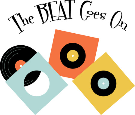 oldies: Vinyl music fans will love these records for their collection. Illustration