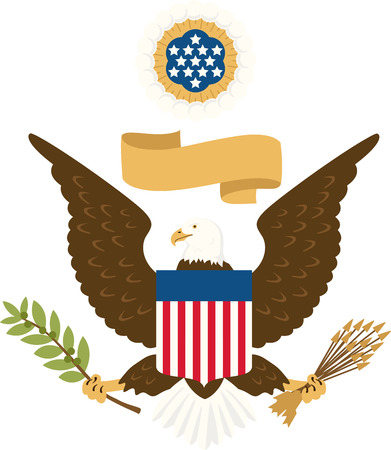 great seal: Celebrate our freedom on July 4th with this cute eagle!  Perfect on items for family and friends to celebrate this day.  They will love it!