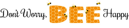 Honeycomb wording surrounded by buzzing bees.