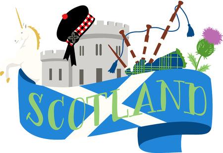 이 아름다운 스코틀랜드 테마는 다음 디자인을위한 아름다운 이미지입니다.