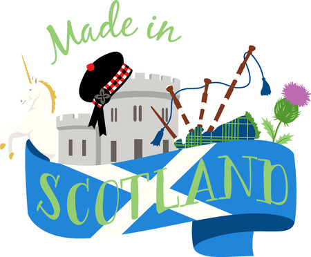This beautiful Scottish theme is a beautiful image for your next design. Vettoriali