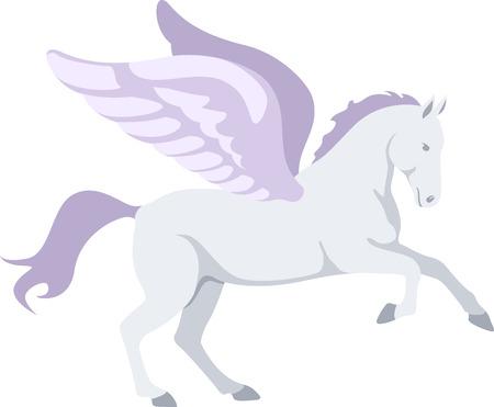 A beautiful Pegasus is a wonderful fantasy project. Ilustrace