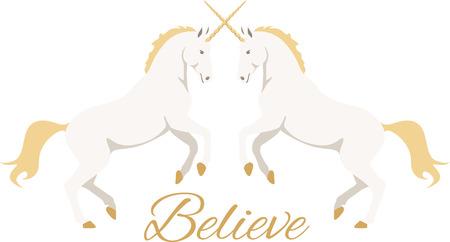 Beautiful unicorns are a wonderful fantasy project. Ilustrace