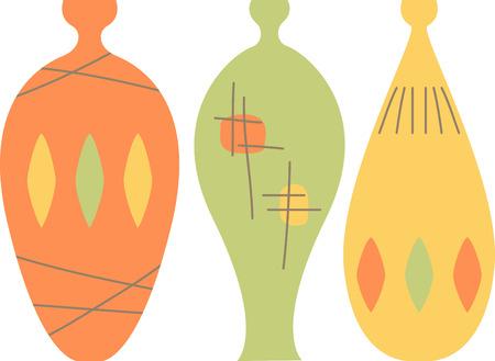 これらのスタイリッシュなレトロな花瓶は、多くのプロジェクトに使用できます。