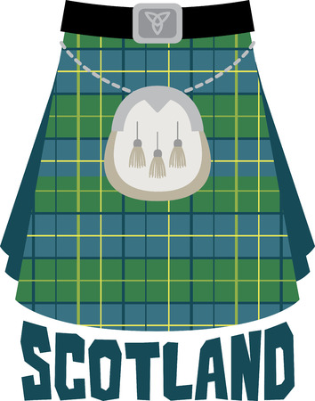 european culture: This beautiful Scottish theme is a beautiful image for your next design. Illustration