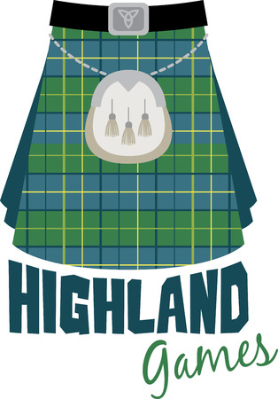 sporran: This beautiful Scottish theme is a beautiful image for your next design. Illustration