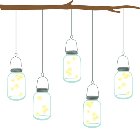 Fireflies in a jar are a great summertime decoration.