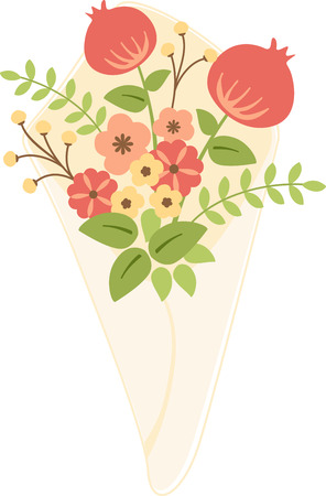 bunch flowers: Stylish bouquet of flowers for that perfect gift.