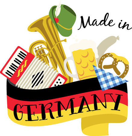 tuba: This beautiful German theme is a beautiful image for your next design. Illustration