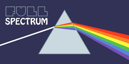 prisma: Un prisma será una colorida decoración agradable.