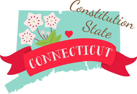 laurel mountain: Show your love for your favorite state and its flower. Illustration
