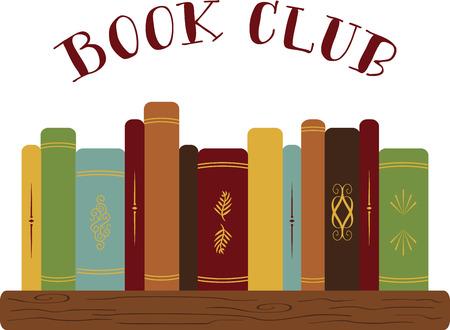 Lezers en schoolkinderen zullen graag een mooie set van boeken. Stock Illustratie