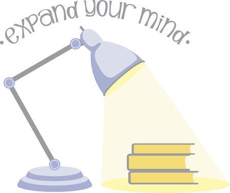 Readers and school kids will like a good lamp to read by. Illustration