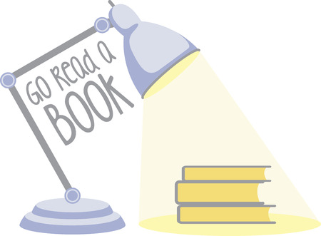 reading lamp: Readers and school kids will like a good lamp to read by. Illustration
