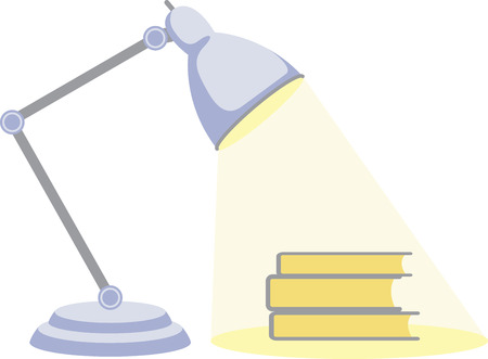 pg: Readers and school kids will like a good lamp to read by. Illustration
