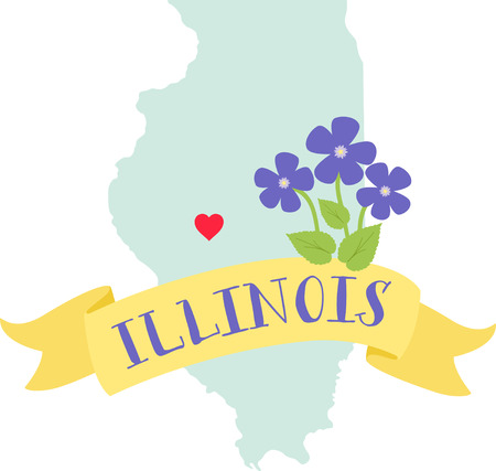 Show your love for your favorite state and its flower. Иллюстрация