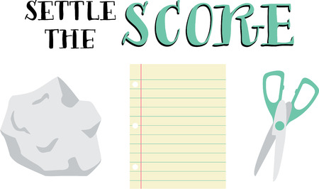 settle: A classic game all kids love. Illustration
